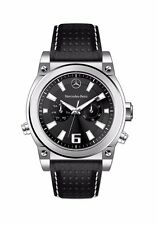OEM GENUINE MERCEDES BENZ MEN'S PERFORATED LEATHER CHRONOGRAPH DIAL WATCH
