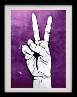 PEACE SIGN HAND POP ART A3 STREET WALL POSTER PRINT - LIMITED EDITION OF 100