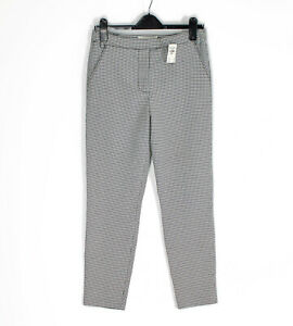 Abercrombie & Fitch A&F tapered check trousers drapey pants Size 4 (S) RRP £58!