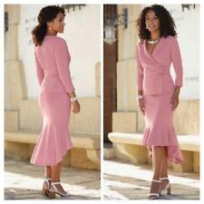 Mauve Blush High Low Skirt Set plus size 16W Midnight Velvet Career Church Suit