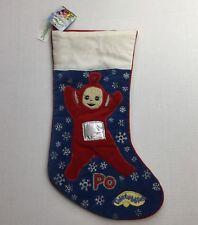 """New tags Teletubbies Po Christmas embroidered velvet Stocking snowflake RARE 17"""""""