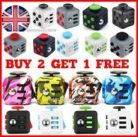 Fiddle Fidget Cube Desk Toy Children  Adults Stress Relief Cubes ADHD & Gift Box