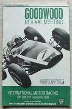 GOODWOOD REVIVAL 19/20/21 Sept 2008 Motor Race Meeting Official Programme