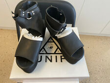 Unif Black Sandals Sz 36 Us6