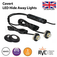 LED HIDEAWAY LIGHTS WHITE, 12v 24v Flashing Light Bar Recovery Strobe Beacon