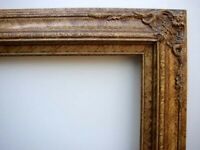 """Fancy Antiqued Picture Frame For Stretched 24""""X36"""" Oil Painting Gold Marble"""