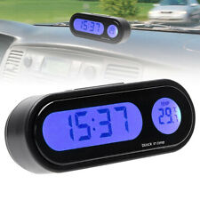 12V Auto Car Digital LCD Electronic Time Clock Thermometer Watch With Backlight