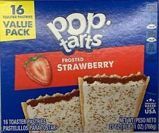 NEW KELLOGGS POP TARTS FROSTED STRAWBERRY 27 OZ (768g) BOX 16 TOASTER PASTRIES