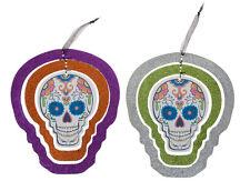 3d Colgante Halloween con Purpurina Remolino Calavera Forma Decoración