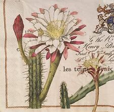 New listing 20 paper napkins for Decoupage Crafts or Collection Exotic Plants Cactus #2582