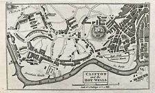 1815 Antique map: Clifton and the Hot Wells, Bristol