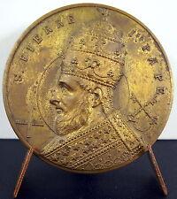 Médaille sc A J Corbierre à Saint Pierre Ier Pape Pope San Pedro Papa 1920 Medal