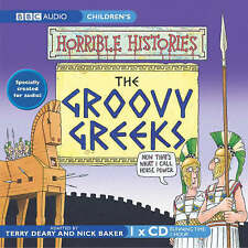HORRIBLE HISTORIES -THE GROOVY GREEKS - BBC  AUDIO BOOK NEW/SEALED