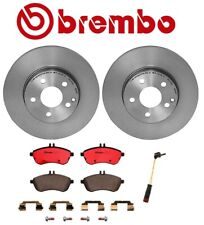 For Mercedes R172 W204 Front Disc Brake Rotors Ceramic Pads & Sensor Kit Brembo