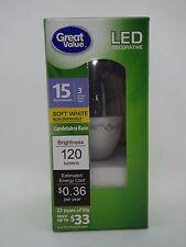 LED Light Bulb 3W - 15W Equivalent - Deco (E12) Soft White