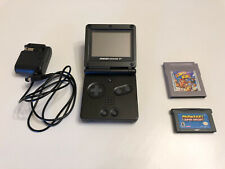 Nintendo Game Boy Advance SP Graphite Handheld System With Charger and Games
