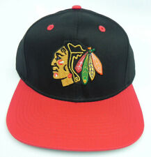 CHICAGO BLACKHAWKS NHL VINTAGE SNAPBACK RETRO 2-TONE FLAT BILL CAP HAT NEW!