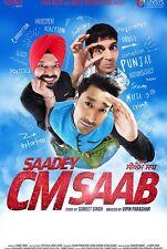 SAADEY CM SAAB - ORIGINAL PUNJABI DVD - FREE POST