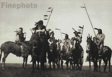 1900/72 EDWARD CURTIS Native American INDIAN Atsina Warriors On Horses Photo Art