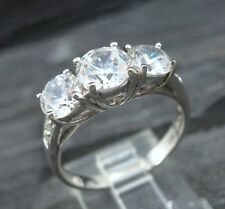 925 Sterling Silver Round Cut Cz Cubic Zirconia Engagement Ring Size 9
