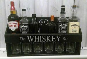Personalised/Home drinks bar alcohol, shelving unit, whiskey bar bar shelf.