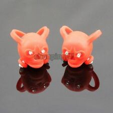 2x Bike Bicycle Red Silicone Skull Frog Light Rear Warning Safety LED Lamp