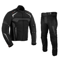 Motorbike Textile Suit Motorcycle Waterproof Armoured Jacket Trouser For Winter