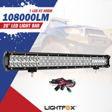 26inch Cree LED Work Driving Light Bar Spot Flood Combo Offroad Truck 4X4WD
