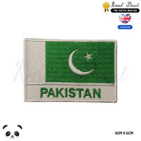 PAKISTAN National Flag With Name Embroidered Iron On Sew On Patch Badge