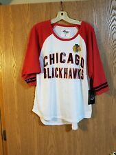 Chicago Blackhawks Women's GIII 4 Her Mesh Jersey Shirt Large NWT