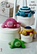 Tejer patrón Juguete Tortuga Mini pooffe bebé juguetes de peluche patrón 9043
