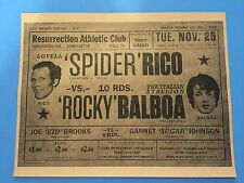 Rocky Balboa vs Spider Ricco Boxing Fight Flyer/Poster Prop/Replica > Stallone