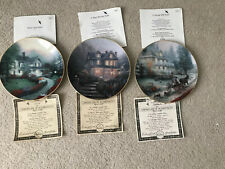 Branford Exchange Thomas Kinkade Home is Where The Heart Is Plates Set Of 3