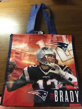 TOM BRADY New England Patriots NFL Printed Reusable Grocery Tote Bag,NEW w/Tag