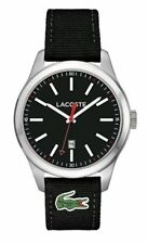 NIB Lacoste - 2010778 Men's Auckland Quartz Analogue  Black Strap Watch
