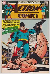 Action Comics #372 VF+ 8.5 Superman Supergirl 1969!