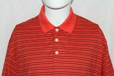 Nike Fit-Dry Men's Xl Orange Striped All Polyester Golf Polo Shirt