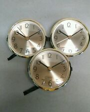 "3-PACK CLOCK INSERT, brushed brass face, BEAUTIFUL, 3 1/8""x3"" hole, NEW, x80G"