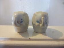 Set of 2 Vintage Elephant Salt & Pepper Shakers - Collectable - Novelty.