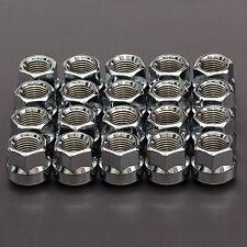 20x CHROME WHEEL NUTS M14x1.5 mm di raggio SEDILE R14 per PORSCHE