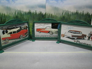 3 HIGHWAY ROAD SIGNS  PLASTIC with CARDBOARD INSERTS NEAR MINT S or HO SCALE