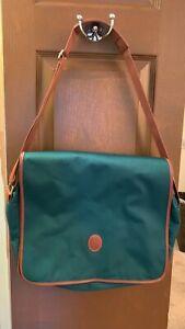 Polo Ralph Lauren Green Canvas Messenger Bag