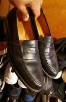 Ralph Lauren Crockett Jones Benchmade England Blk Leather Penny Loafers 9.5D