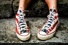 Stars and Stripes Retro Sneakers Photo Art Print Mural inch Poster 36x54 inch