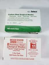 McKesson and Select #11 Surgical Blades Sterile - 189 total