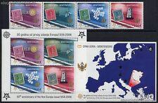 50 JAHRE EUROPAMARKEN CEPT - 2006 MONTENEGRO - 108-11 + Block 2 A + BLOCK 3 **
