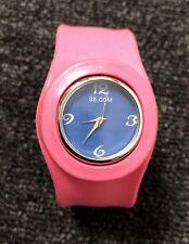 SS.COM pink rubber watch