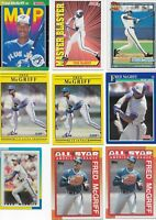 Fred McGriff Lot 9 Cards Baseball Toronto Blue Jays 1990 Topps Mini Donruss