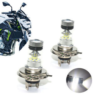 2x H4 9003 Motorcycle LED Headlight Bulbs 6000K White For Ducati Aprilia BMW