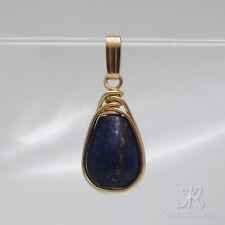 ELEGANT ●  Lapis Lazuli Edelstein + Anhänger ygf 14k Gold 585